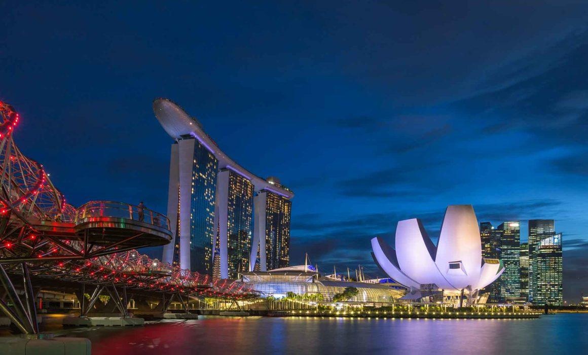 Bart Hendrix Helix Bridge en Art Science Museum, Singapore