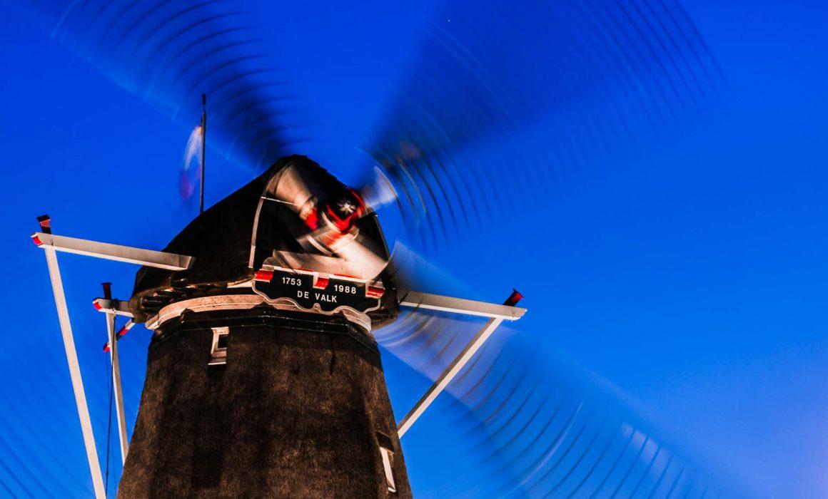 Blauwe uurtje Molen Montfoort