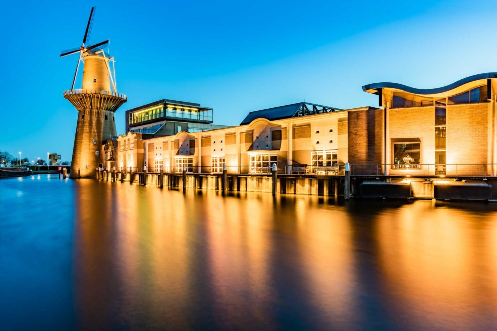 Jaco Terlouw blauwe uurtje Noletmolen, Schiedam